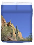 Desert Plants Of The Superstitions Duvet Cover