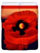 Desert Poppy Duvet Cover