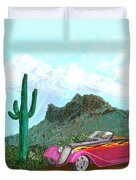 Desert Roadster 34 Ford Duvet Cover