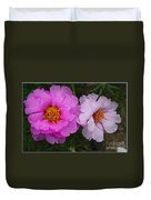 Desert Roses In Purple And Pink Duvet Cover