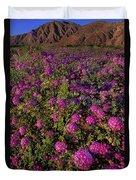 Desert Sand Verbena Wildflowers Duvet Cover