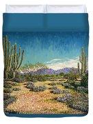 Desert Scene Near Carefree Duvet Cover