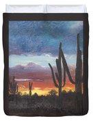 Desert Silhouette Duvet Cover