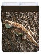 Desert Spiny Lizard Duvet Cover