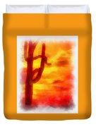 Desert Sunset Photo Art 01 Duvet Cover