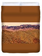 Desert View In Arizona By The Colorado River Duvet Cover