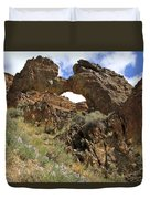 Desert Wildflowers Grand Arch  Duvet Cover