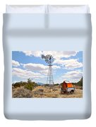 Desert Windmill Duvet Cover