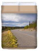 Deserted Rural Highway Yukon Territory Canada Duvet Cover