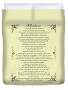 Desiderata Gold Bond Scrolled Duvet Cover by Movie Poster Prints