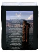 Desiderata On Lake View Duvet Cover
