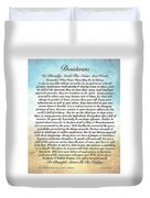 Desiderata Poem On Watercolor Duvet Cover