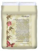 Desiderata Poem With Bamboo And Butterflies Duvet Cover