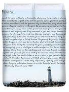 Desiderata Santa Cruz Lighthouse Duvet Cover