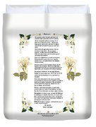 Desiderata With Art Duvet Cover by Anne Norskog