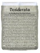 Desiderta Poem On Stone Marble Duvet Cover