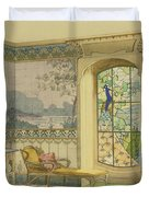 Design For A Bathroom, From Interieurs Duvet Cover