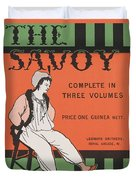 Design For The Front Cover Of 'the Savoy Complete In Three Volumes' Duvet Cover