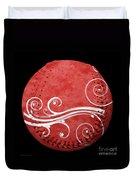 Designer Red Baseball Square Duvet Cover