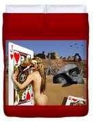 Desire And The Jack Of Hearts Duvet Cover