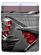 Desoto Red Tail Lights In Black And White Duvet Cover