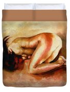 Despair - The Nude In Sadness Duvet Cover
