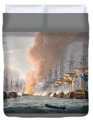 Destruction Of The Danish Fleet Duvet Cover