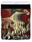 Destruction Of The Earth Abstract Duvet Cover