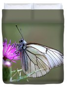 Detail Of A Butterfly In Alto Tajo Duvet Cover