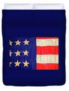 Detail Of A Civil War Flag In Drummer Duvet Cover