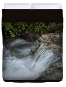 Detail Of A Small Water Fall In A Stream Duvet Cover