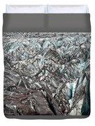 Detail Of Icelandic Glacier Duvet Cover