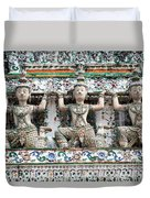 Detail Of Temple, Thailand Duvet Cover