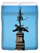 Detailed Images Of Statues In Almaty Duvet Cover