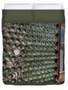 Detailed View Of Bottle House At Calico California Duvet Cover