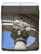 Detailed View Of Corinthian Order Column Duvet Cover