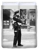 Detective Calm Duvet Cover