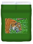 Determination In The Tigers Stare Duvet Cover