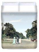 Detroit - Belle Isle Park - Central Avenue - 1905 Duvet Cover