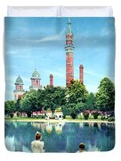 Detroit - Gladwin Waterworks Park - Jefferson Avenue At The Detroit River - 1905 Duvet Cover