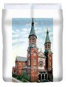Detroit - St Mary Catholic Church - Monroe Avenue - 1910 Duvet Cover