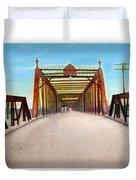 Detroit - The Belle Isle Bridge - 1908 Duvet Cover