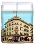 Detroit - The Cadillac Hotel - Cadillac Boulevard And Michigan Avenue - 1918 Duvet Cover
