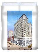 Detroit - The Lafayette Building - Michigan Avenue Lafayette And Shelby Streets - 1924 Duvet Cover