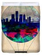 Detroit Air Balloon Duvet Cover