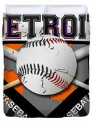 Detroit Baseball  Duvet Cover by David G Paul