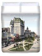 Detroit - Cadillac Square - 1905 Duvet Cover