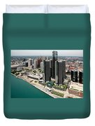 Detroit International Riverfront Duvet Cover