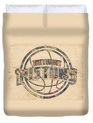 Detroit Pistons Poster Art Duvet Cover