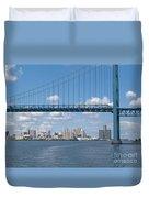 Detroit River Crossing Duvet Cover